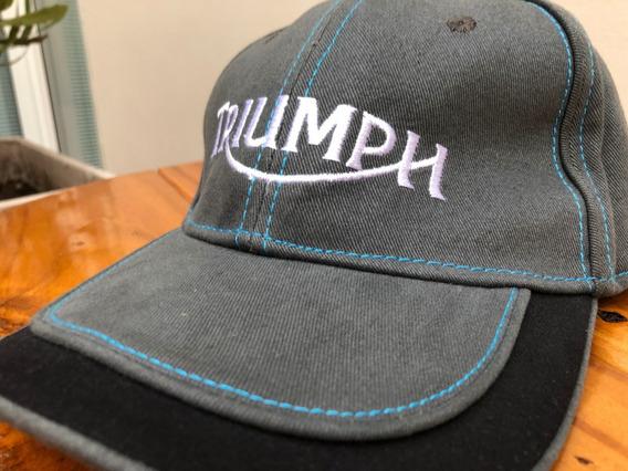 Gorra Original Triumph Modelo Trucker Impecable Sin Uso!