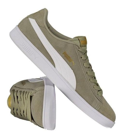 Tênis Puma Smash V2 Verde E Branco