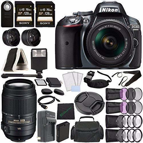 Camara Nikon D5300 Dslr 18-55mm Lente Grey + Nikon Af-s Dx ®