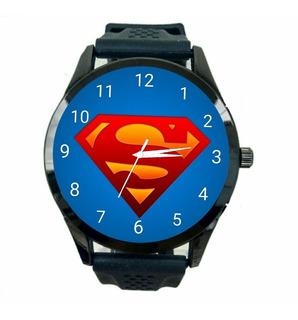 Relógio Super Homem Unissex Dc Liga Da Justiça Heroi Hq T316