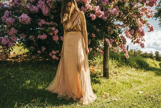 Saia Longa, Body E Cropped Rose