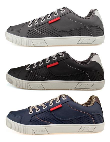 Tenis Masculino Casual Combina Com Calça Jeans - Kit 3 Pares