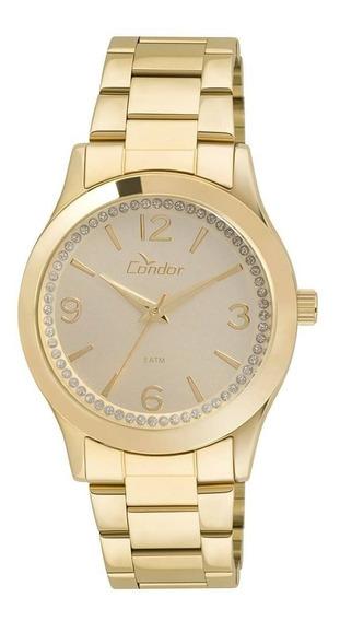 Relógio Condor Dourado Feminino Co2039ac/4d