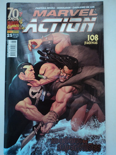 Hq-marvel Action:#25:+poster Grátis:pantera Negra,demolidor