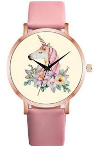 Relógio Feminino De Unicórnio Rose Gold