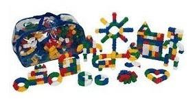 Brinquedo Pedagógico Sacolão Criativo Monta Lig C/500 Peças