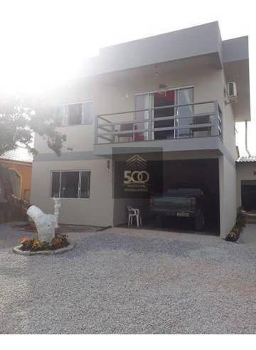 Casa Com 4 Dormitórios À Venda, 210 M² Por R$ 700.000,00 - Maciambú (ens Brito) - Palhoça/sc - Ca0601