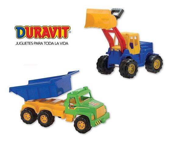 Camión Volcador Gigante Y Excavadora Grande Duravit Combo