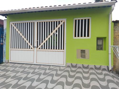 Imagem 1 de 14 de Casa Em Mongaguá , Casa Nova Com Quintal Espaçoso .
