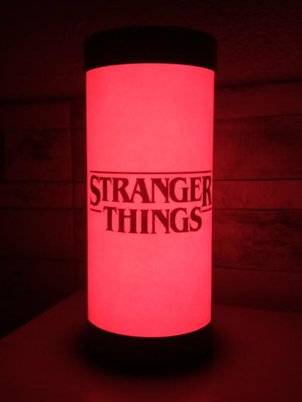 Luminária Abajur De Led Geek Stranger Things Serie Netflix