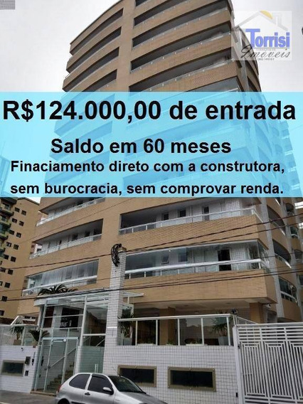 Apartamento Em Praia Grande, 02 Dormitórios, Guilhermina, Ap2226 - Ap2226
