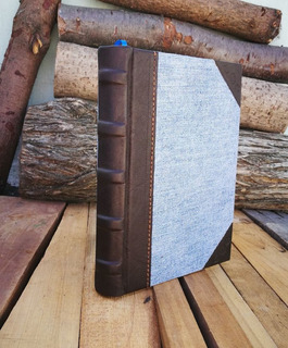 Cuaderno Artesanal De Tapas Duras Estilo Bluejean (modelo 1)