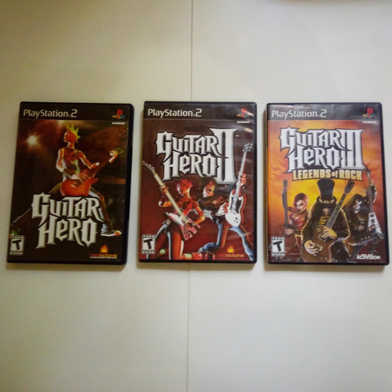 Trilogia Guitar Hero 1 2 3 - Originais Americano - Ps2