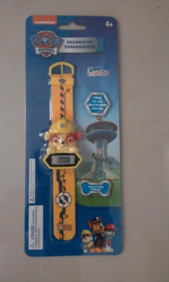 Relógio Digital Infantil - Patrulha Canina - Rubble