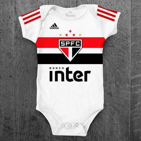 Body Infantil São Paulo Futebol Personalizado C/ Nome Bebê
