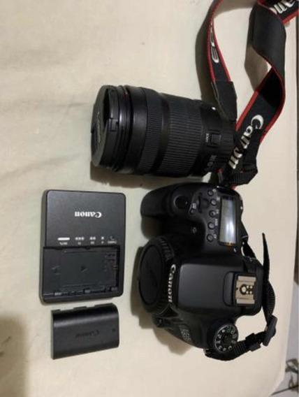 Câmera Canon 70d + Ef-s 18-135mm +bateria