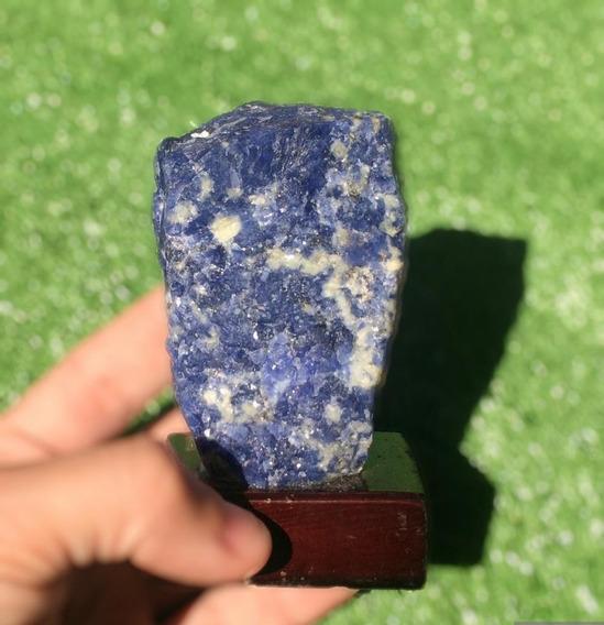 Kit Colecionador Sodalita + Quartzo Verde Na Base 8 A 10cm Pedras Naturais Promoção