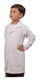 Jaleco Infantil Unissex Com Punhos Nome Bordado, Laboratório