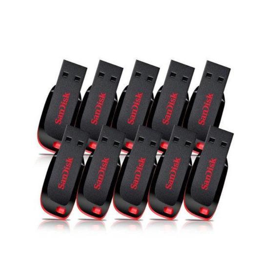Pendrive Sandisk 32gb 10 Un Produto 100% Original - Lacrado