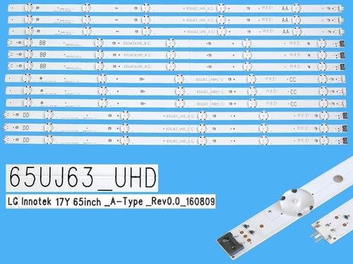 Imagen 1 de 2 de Kit X 12 Tiras De Led LG 65uj6320 65uj63_uhd Nuevas Cuotas