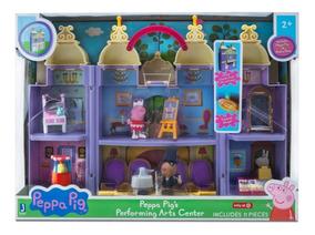 Peppa Pig Teatro Portátil Com Peppa + Pedro Pony C/ 11 Pçs