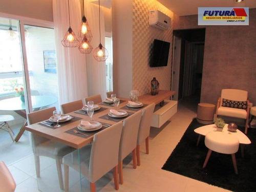 Imagem 1 de 30 de Apartamento Com 3 Dormitórios À Venda, 84 M² Por R$ 620.000,00 - Itararé - São Vicente/sp - Ap1839