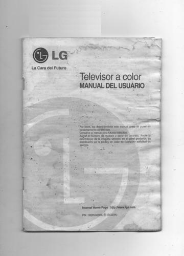 Imagen 1 de 2 de Manual De Ususario De Televisor A Color LG
