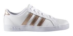 Tenis adidas Baseline K Blanco Plata Aq0783