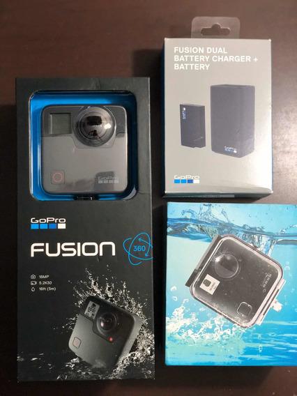 Gopro Fusion + Carregador/bateria Extra + Caixa De Mergulho