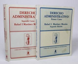 Derecho Administrativo 1 Y 2 Martínez Morales Ed Harla C8s