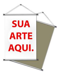 Banner Bastão E Cordinha 40x60 Cm Personalizado