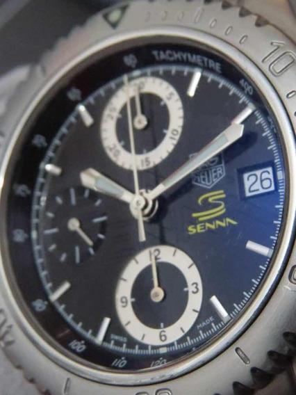 Relógio Ayrton Senna Tag Heuer Automatic Cal 16 Tricampeão
