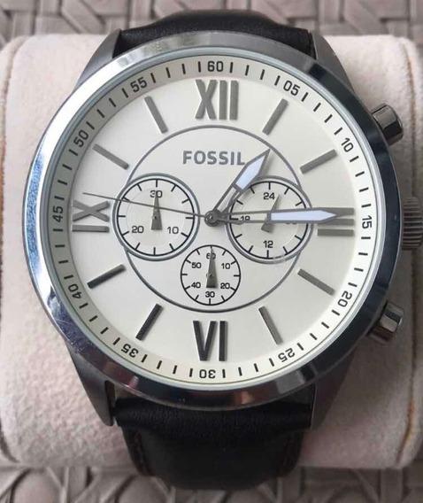 Relógio Marca Fóssil Original Com Pulseira Em Couro Marrom