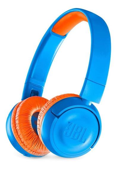 Fone De Ouvido Jbl Jr300bt Bluetooth Infantil Kids Azul