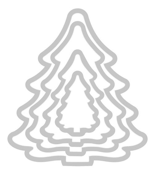Suajes De Corte Kit De 4 Arboles De Navidad Sizzix Framelit