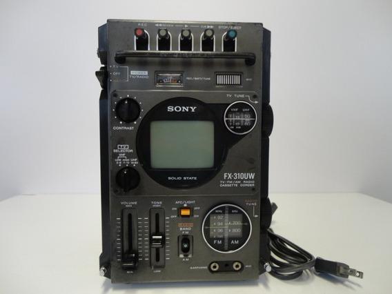Rádio/tv/toca Fitas Sony Antigo Modelo: Fx-310uw.