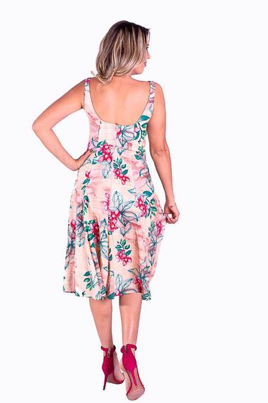 Vestido Godê Midi Florido