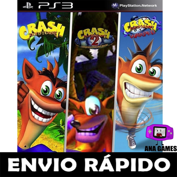Trilogia Crash Bandicoot Ps3 Digital - Leia Descricao !