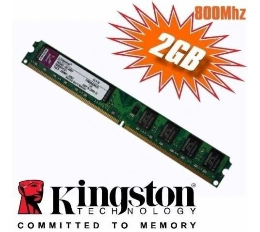 2 Memórias Kingston Ddr2 2gb 800mhz - Pc2-6400 - Leia