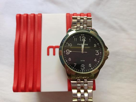 Relógio Prateado Mondaine 3 Atm Original
