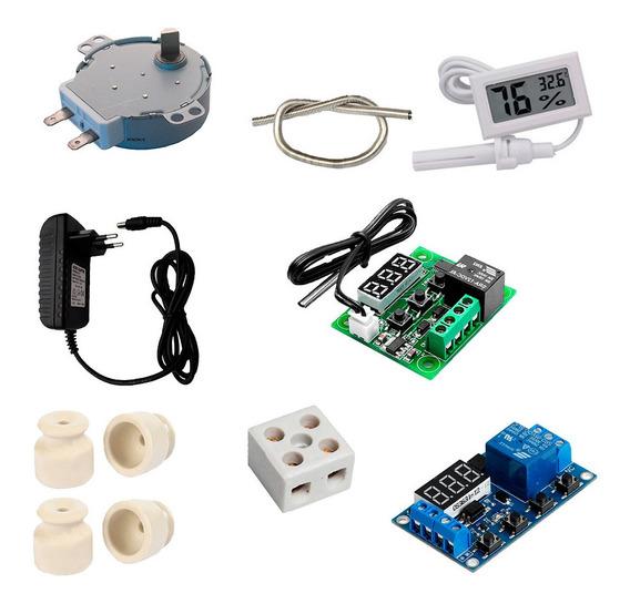 Kit Chocadeira, Termostato, Temporizador, Higrômetro, Motor