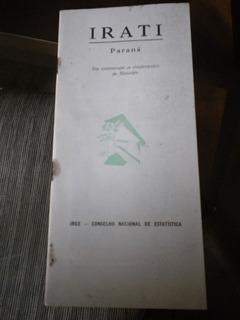 Monografia Antiga Ibge Cidade Irati Estado Paraná