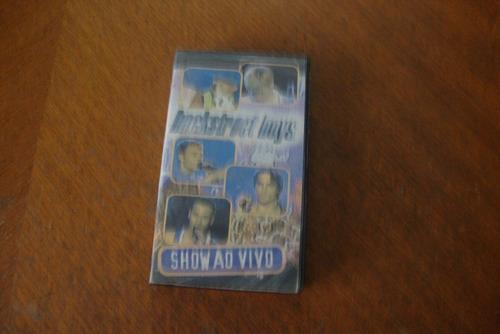 Fita De Vídeo-vhs De Backstreet Boys-show Ao Vivo.