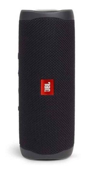 Caixa De Som Jbl Flip 5 Preta Bluetooth Sem Fio 20 W Portátil A Prova De Agua Original