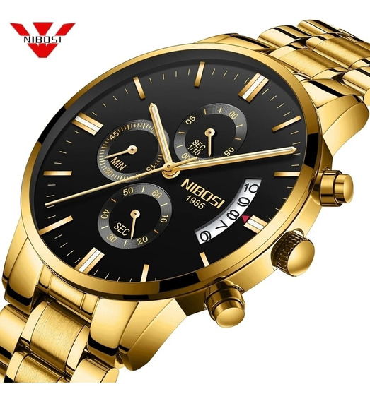Relógio Masculino Nibosi Luxo Original Funcional Promoção