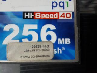 Cartão Memória Flash 256mb Pqi Hi-speed Oferta