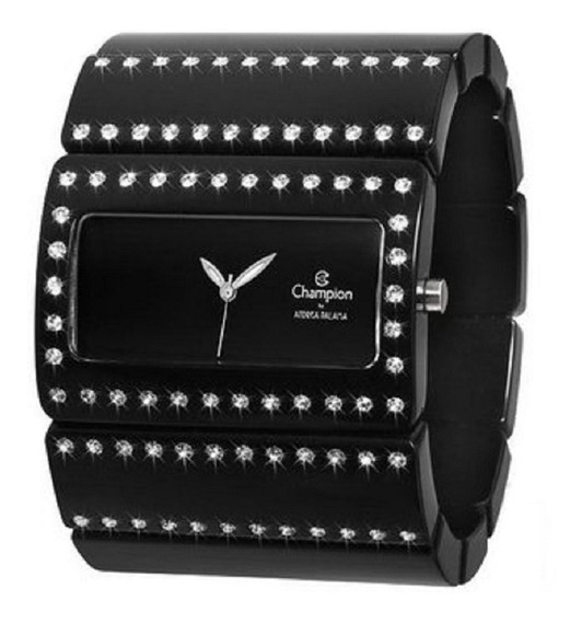 Relógio Feminino Champion Bracelete Elástica Preto Cp28211p