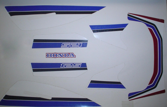 Kit Adesivos Honda Turuna 125 1985 Vermelho