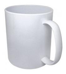 12 Canecas Plastica Sublimatica 325ml Aaa Extra Branca