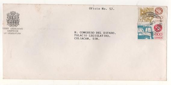L464-sobre Circulado México Exporta Componentes Partes Aut-